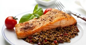 lentils saumon